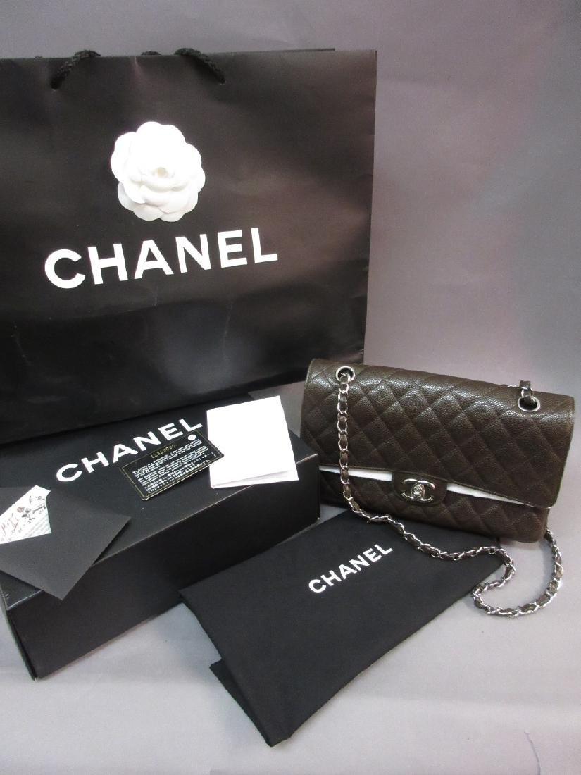Chanel medium Uni quilted lamb skin handbag with
