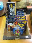 Collection of Star Wars and Marvel comics boxed figures