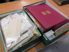 Two boxes containing a collection of various albums of