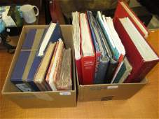 Two boxes containing a collection of various World