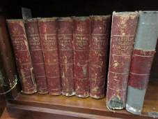 Eight volumes part leather bound books  The Royal