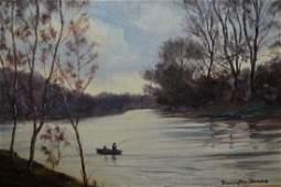 William Ellis Barrington Browne, oil on canvas, view of
