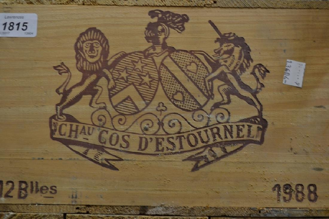 Unopened case of twelve bottles, Chateau Cos