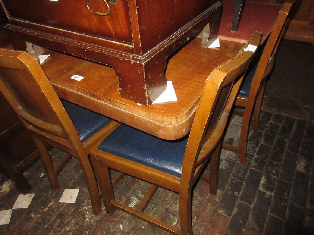 Art Deco Walnut Rectangular Extending Dining Table With Part 95
