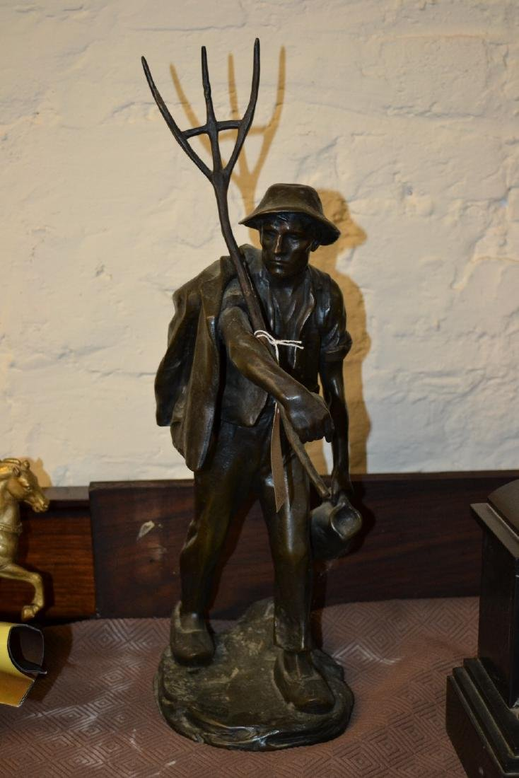 19th / 20th Century dark patinated bronze figure of a