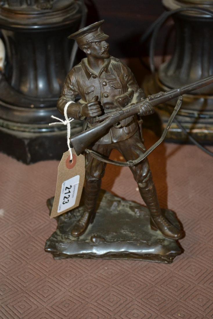 Small 20th Century dark patinated bronze figure of a