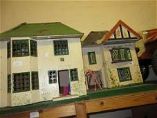 Two small mid 20th Century dolls houses