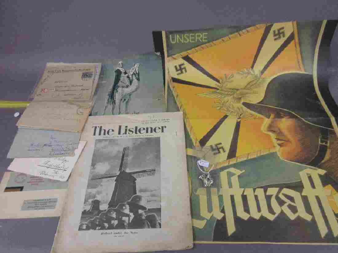 Collection of German World War II envelopes, an S.S.