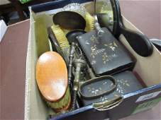 Box containing a quantity of various dressing table