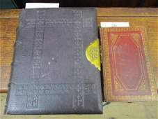 Victorian leather bound family Bible together with a