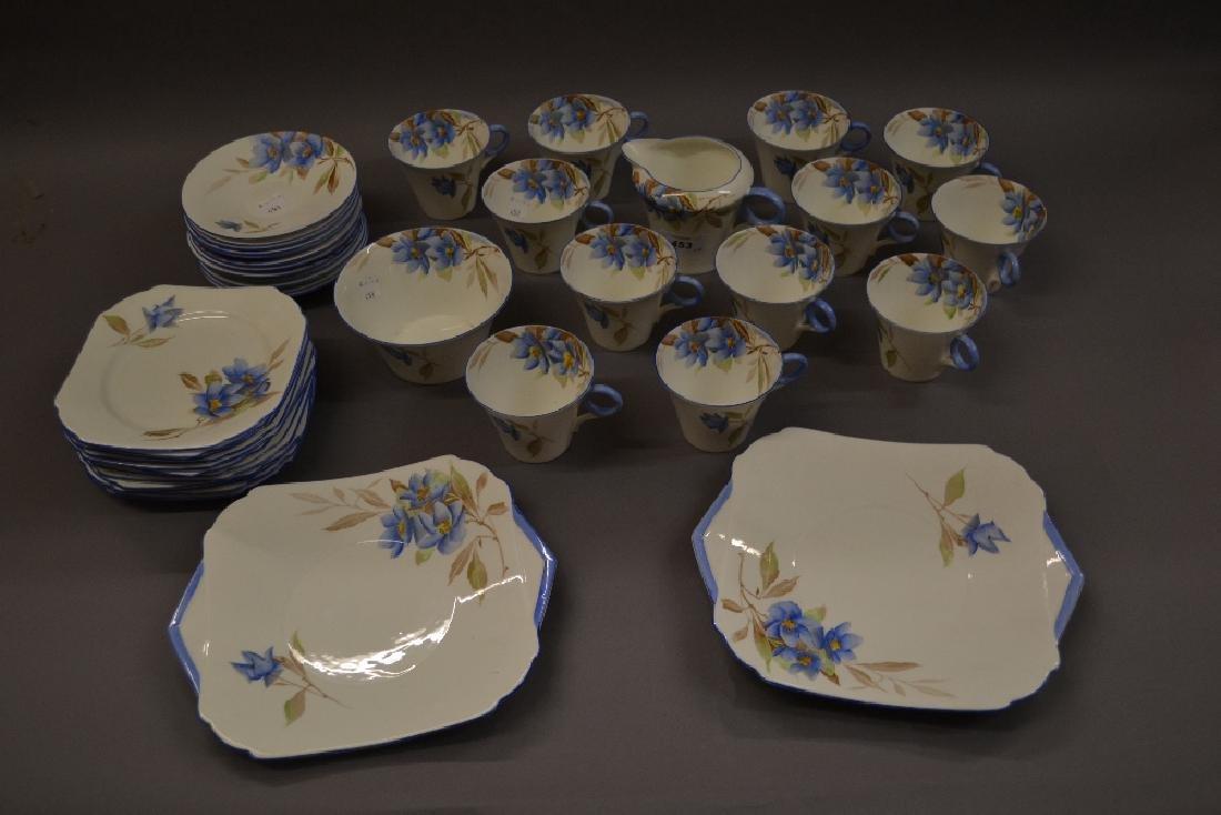 1930's Shelley blue Syringa pattern twelve place