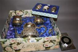 Silver plated three piece teaset, boxed set of plated
