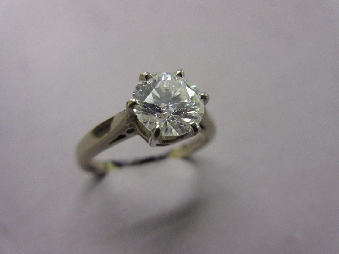 18ct White gold brilliant cut diamond solitaire ring
