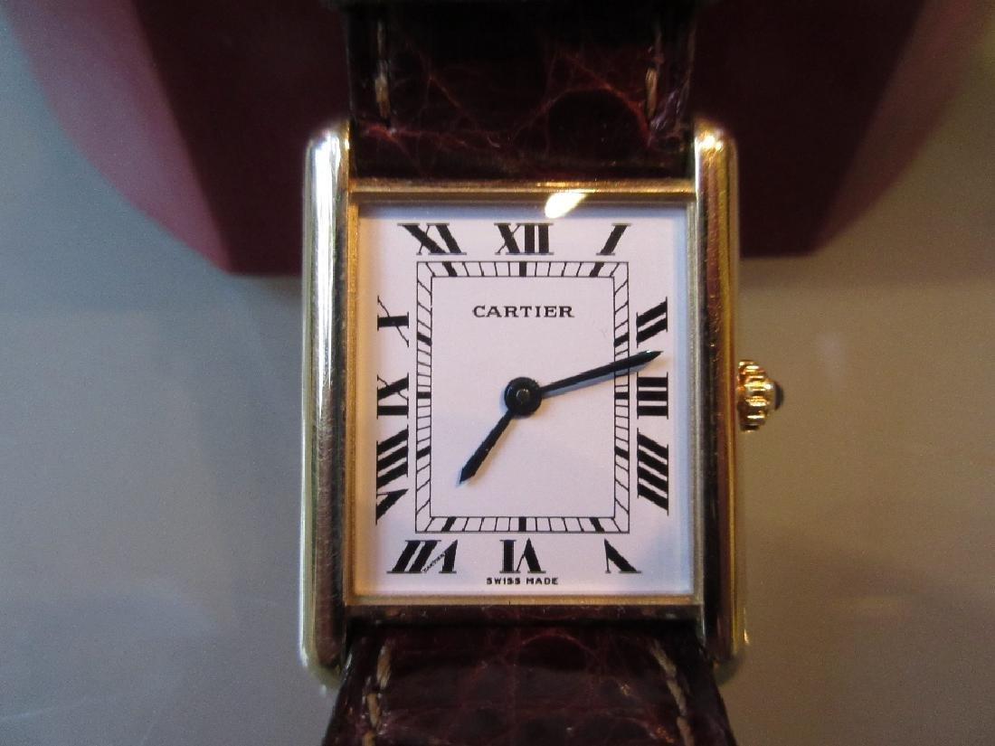 Ladies Cartier 18ct gold Tank Francais quartz