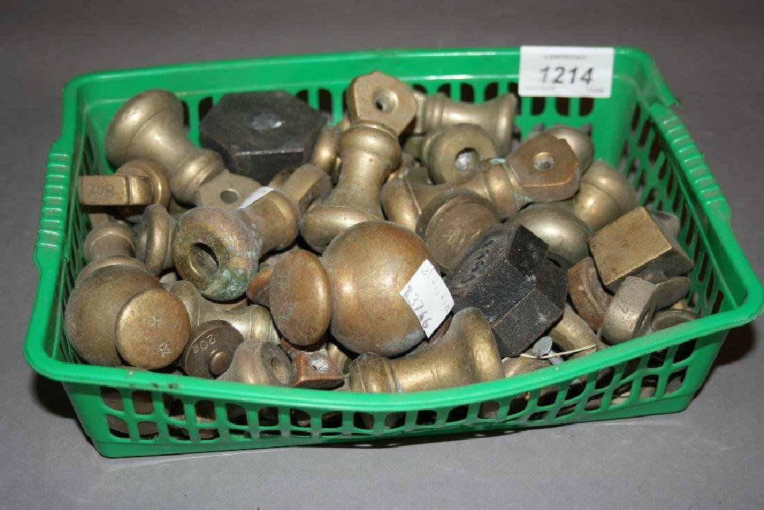 Two bell weights and other various weights