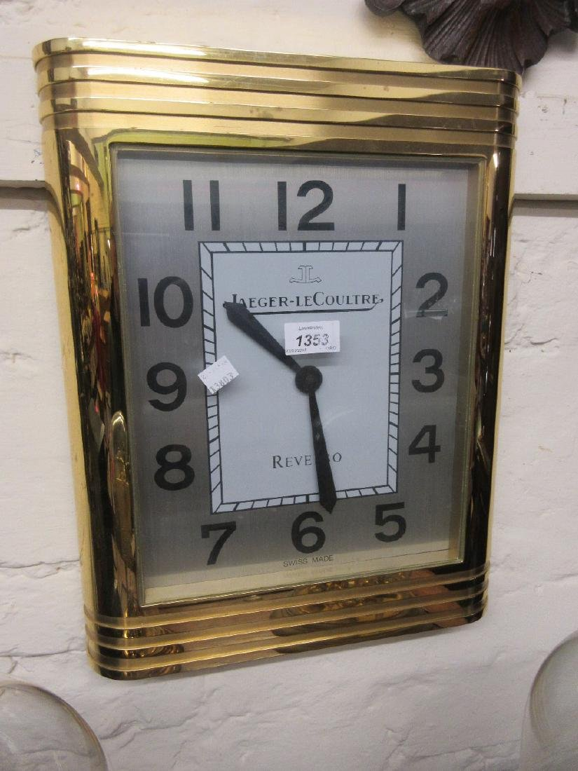 Large Jaeger LeCoultre Reverso Collection gilt metal