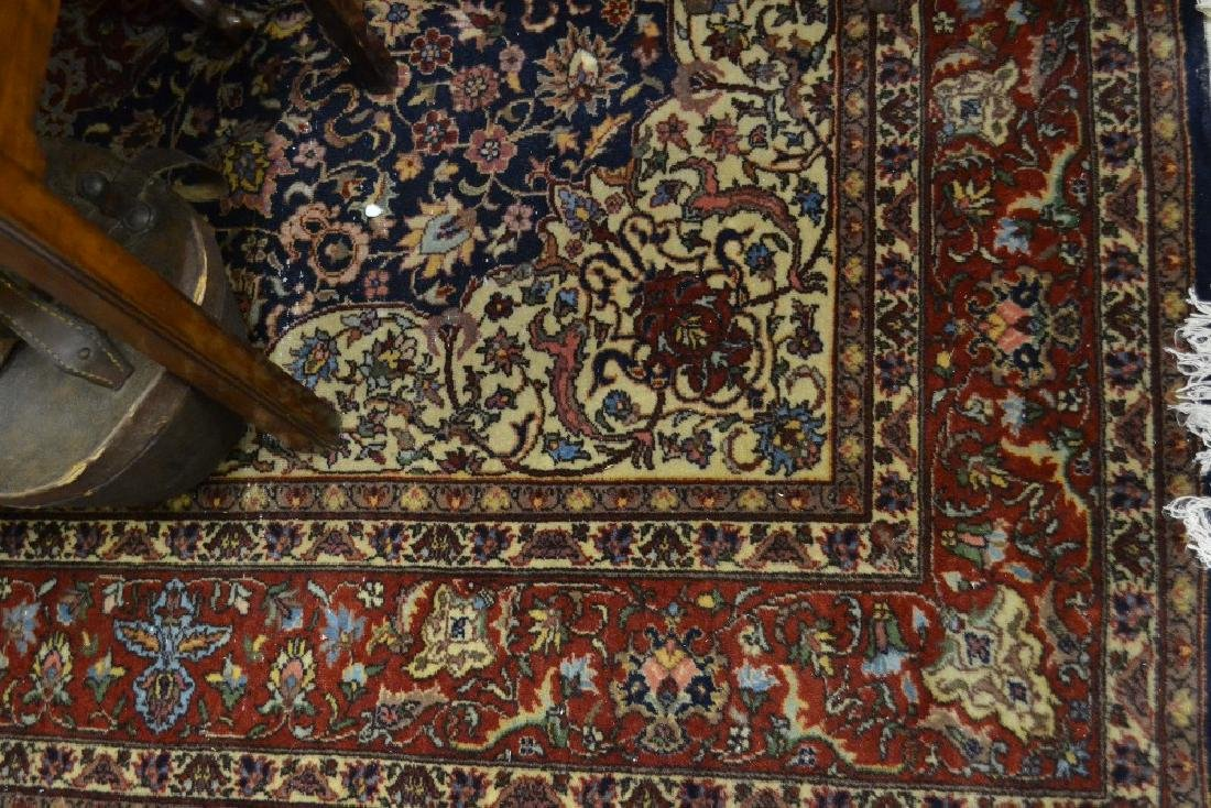 Indo Persian carpet having all over floral design on a