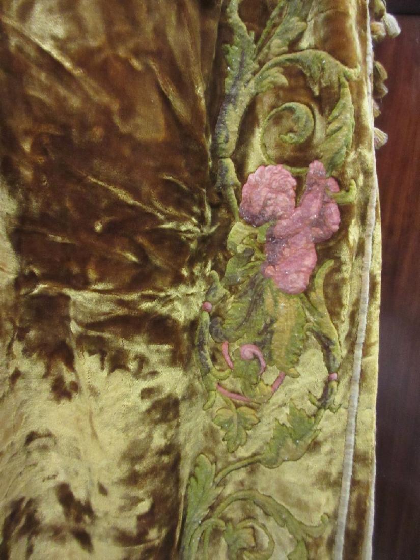 Pair of good quality crushed silk velvet full length