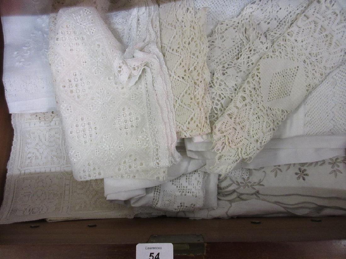 Bag containing a quantity of various table linen
