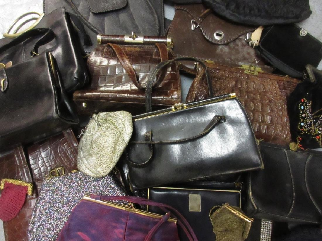 Bag containing a large quantity of ladies leather and