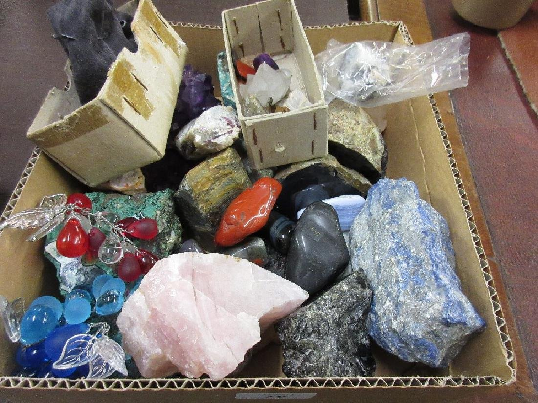 Collection of various mineral and crystal samples and