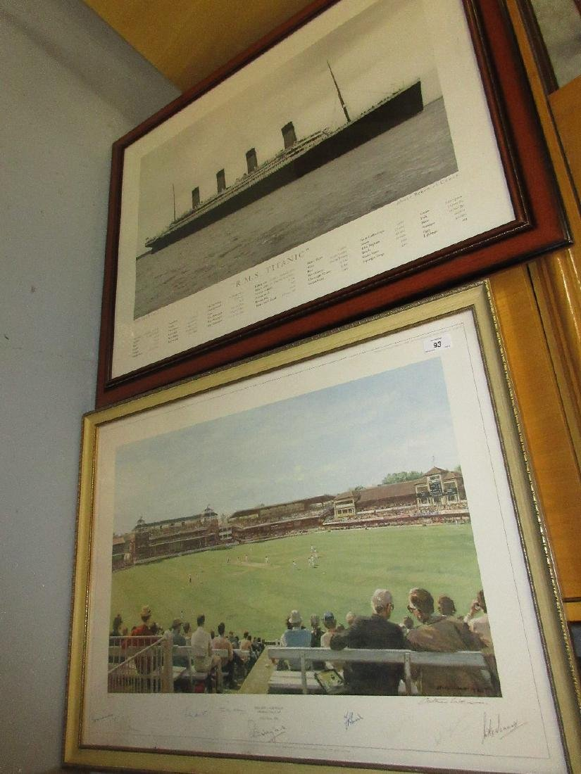 Arthur Weaver 1980 Limited Edition print England versus