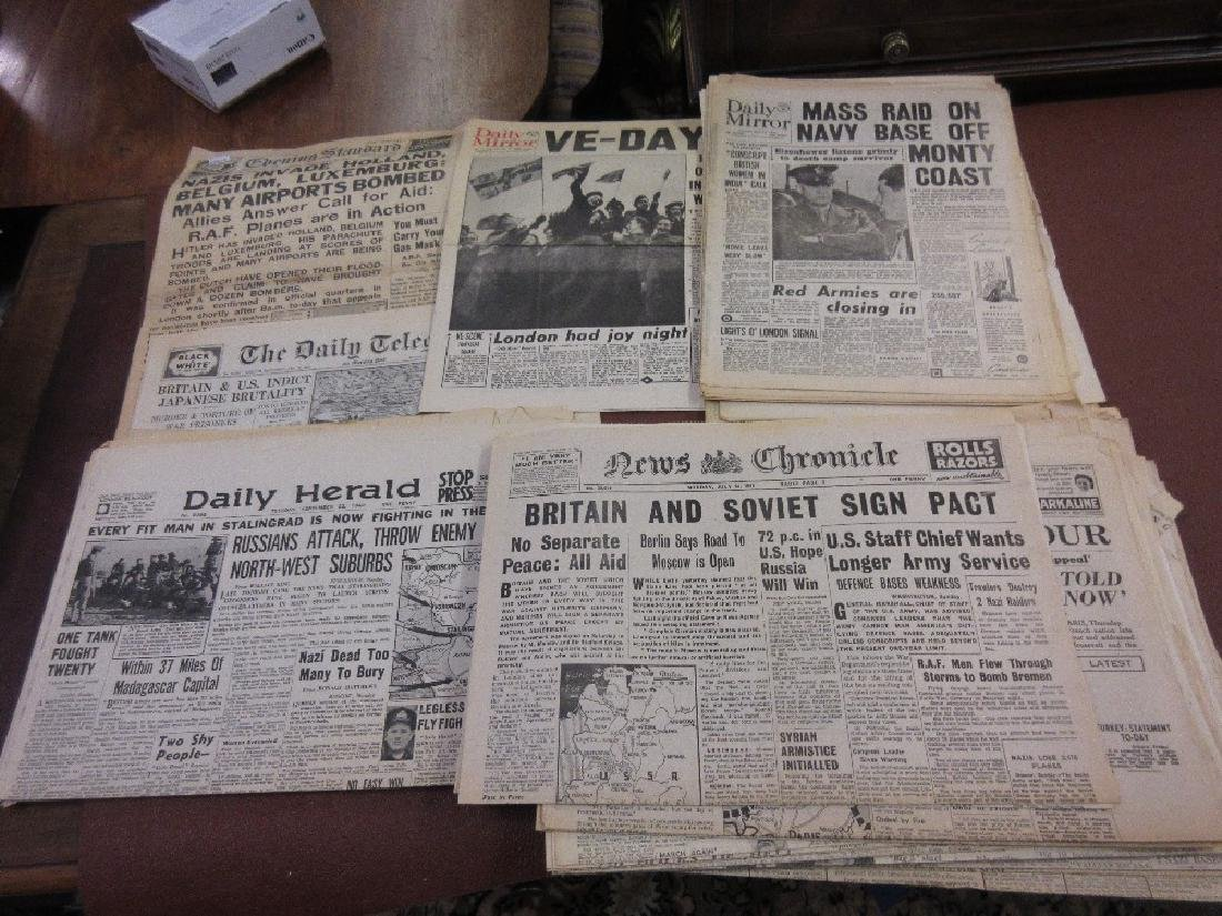 Quantity of World War II newspapers, including: Evening