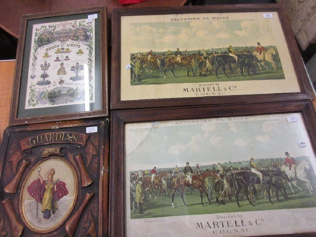 Two framed Edwardian winners of the Derby prints
