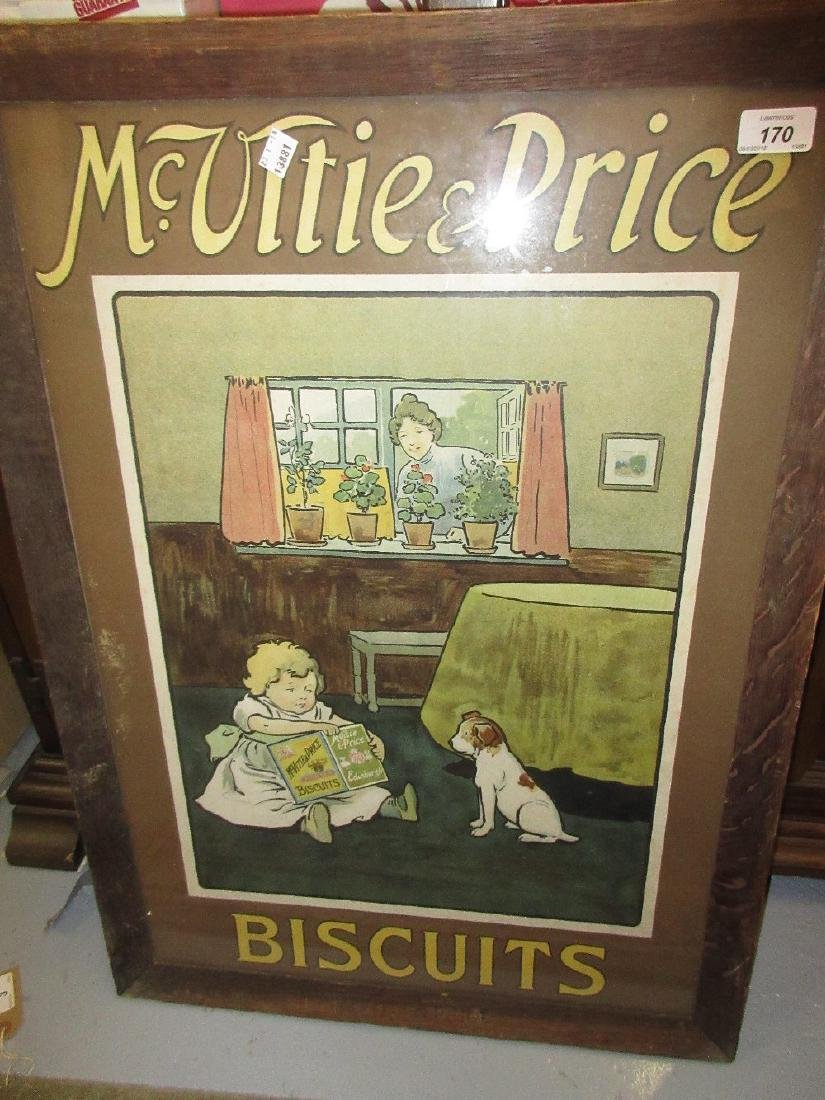 Original McVities and Price Biscuits advertising poster