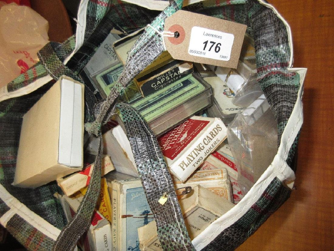 Similar bag containing a quantity of playing cards from