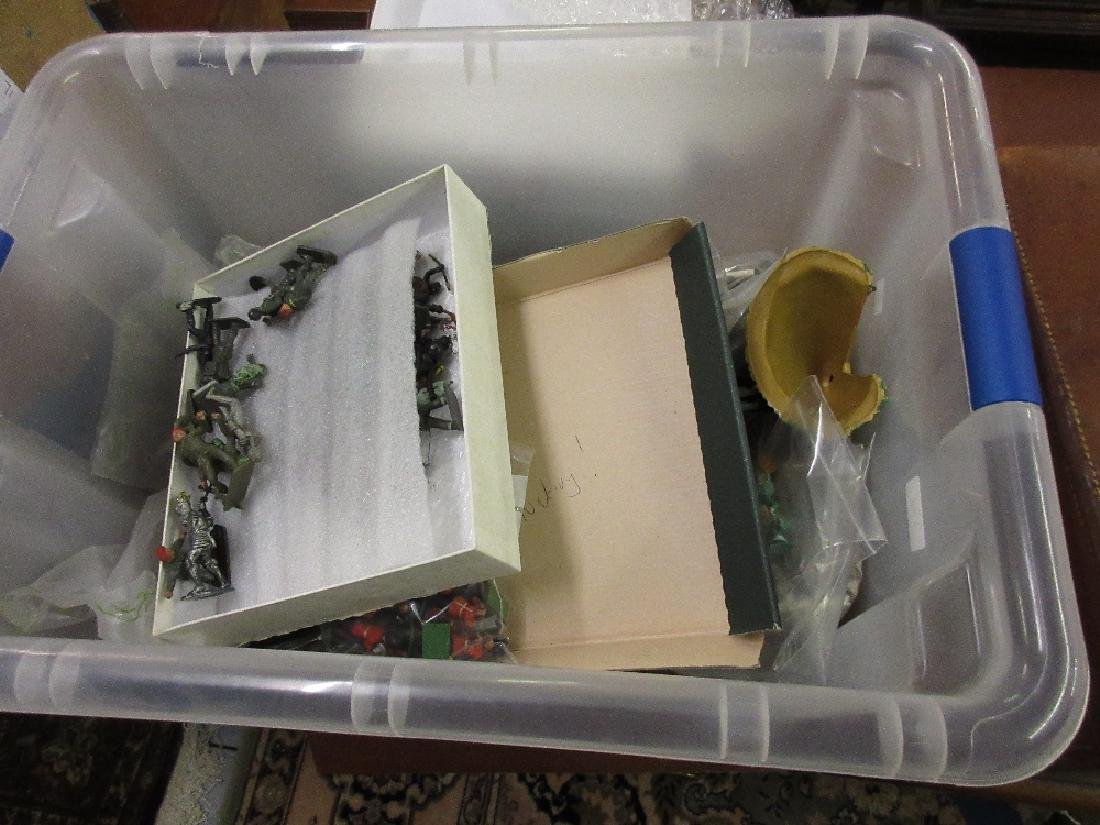 Large box containing a collection of various toy