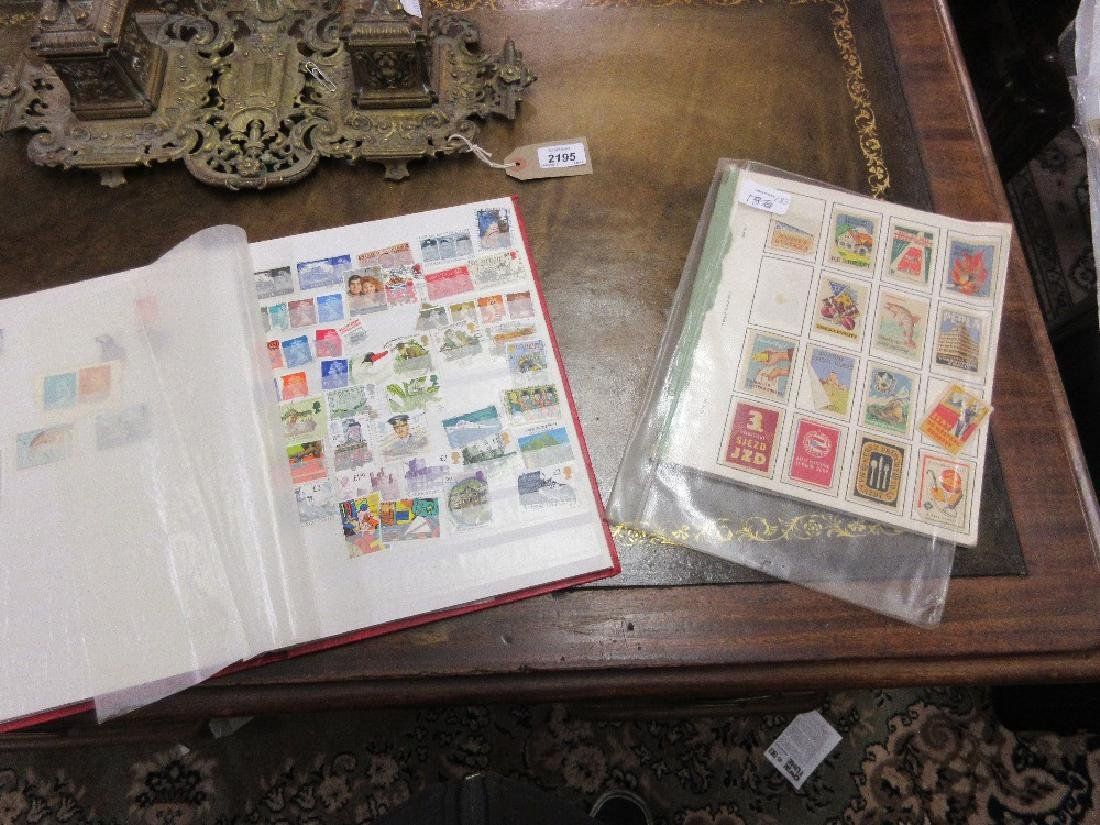 Stock book of World stamps and a collection of Matchbox