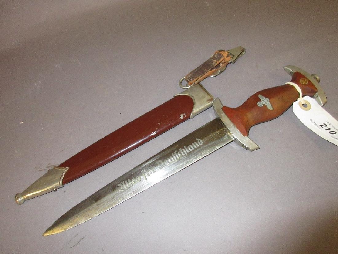 German Third Reich S.A. dagger with scabbard, the blade