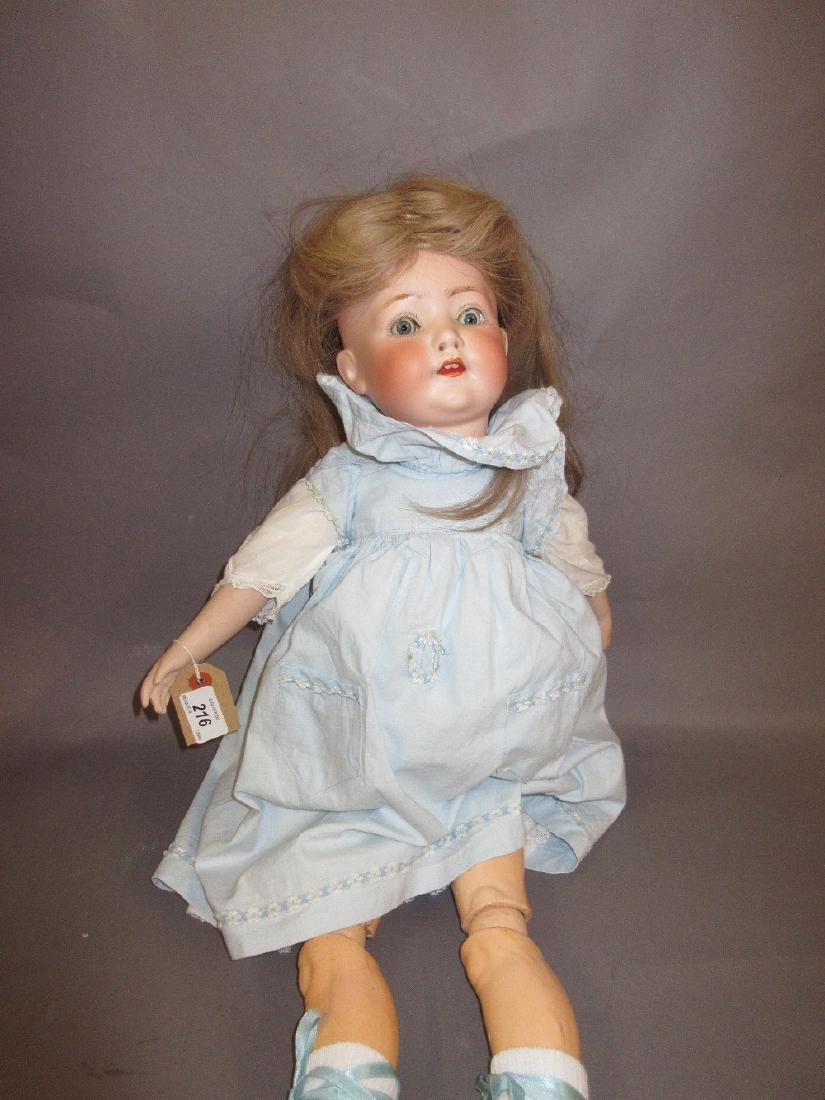 Heubach Koppelsdorf bisque headed doll with sleeping