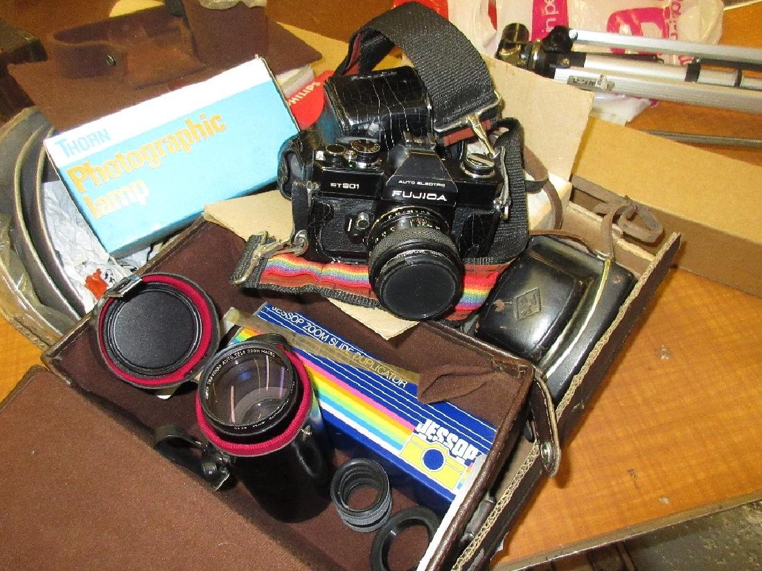 Fujica ST901 camera together with various other
