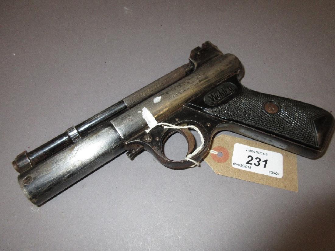 The Webley Mark I air pistol (at fault, lacking box)