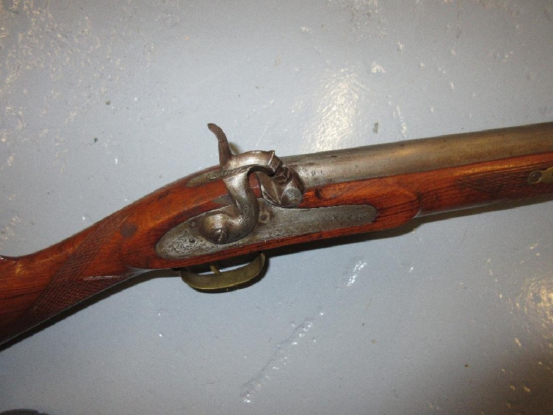 Single barrel converted percussion cap rifle with - 2