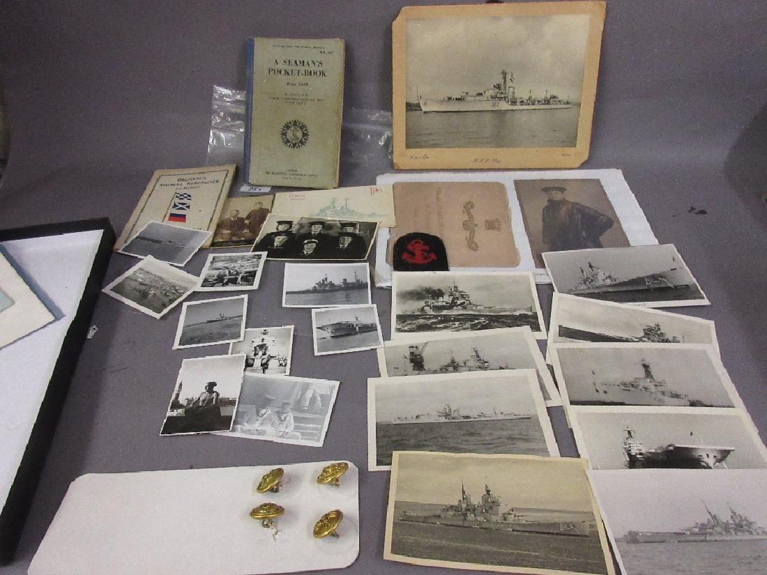 Small quantity of Naval ephemera and badges