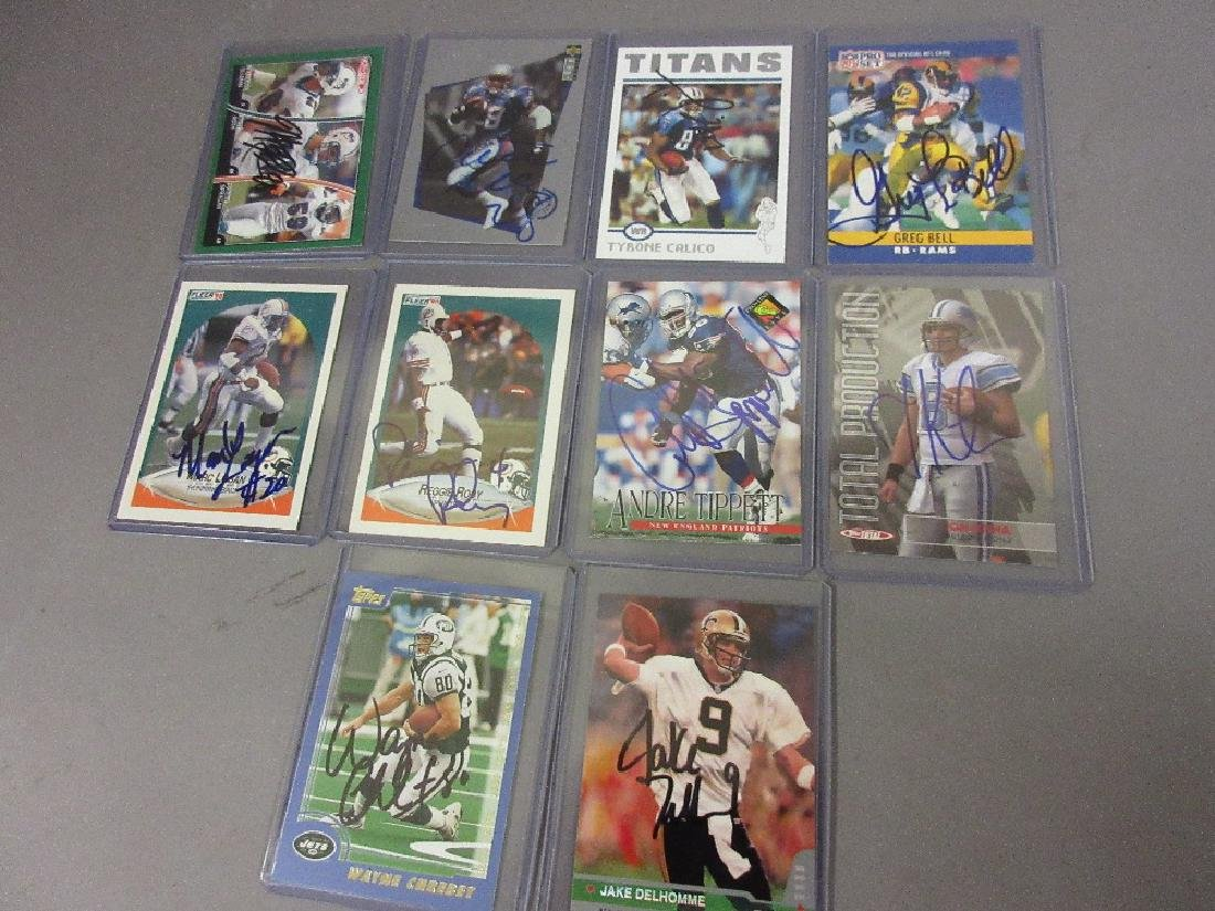 Collection of signed American NFL football cards