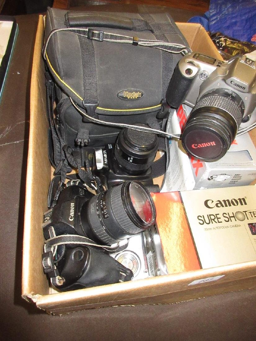 Quantity of various SLR and other cameras, including: