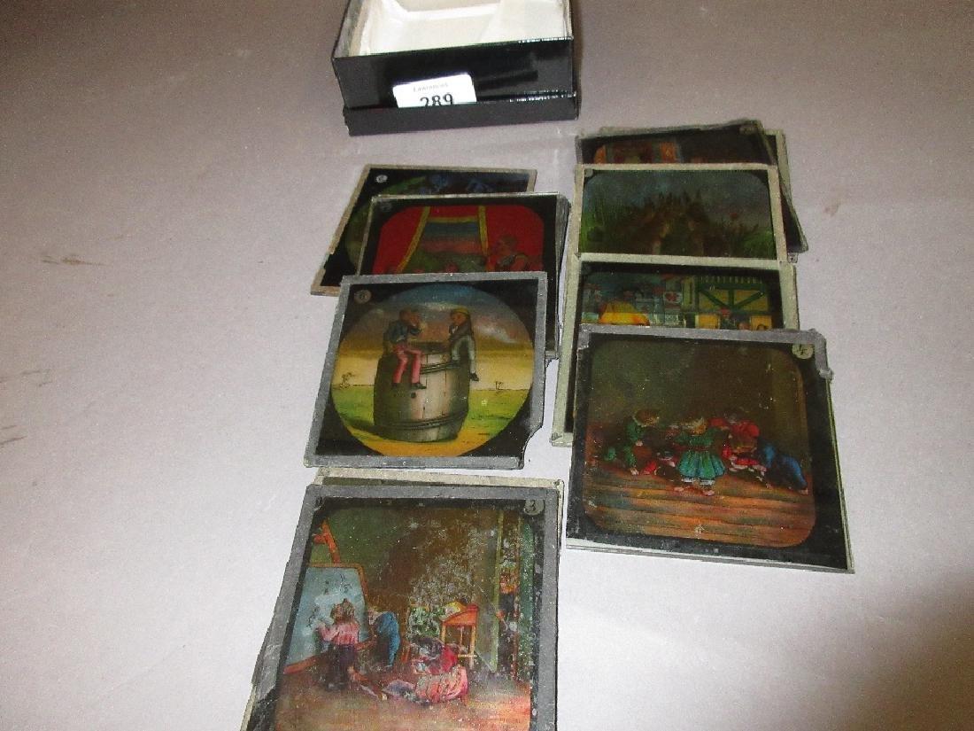 Small quantity of 19th Century magic lantern slides
