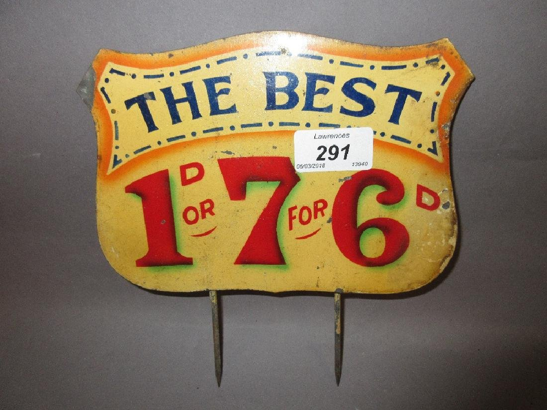 Small enamel sign, ' The Best '