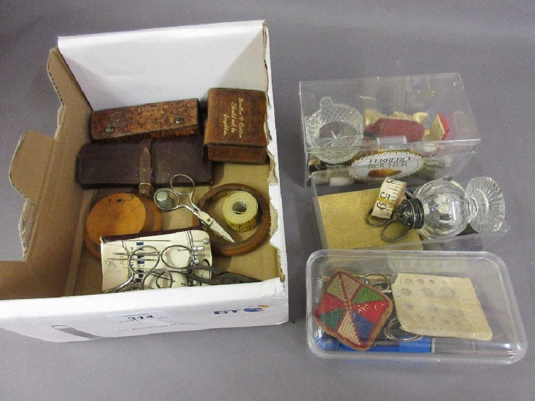 Collection of 19th Century and later sewing related