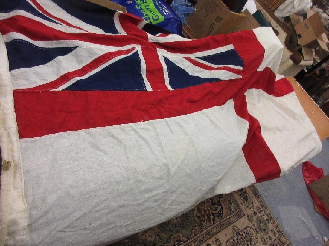 Large linen Royal ensign flag, 8ft 6ins x 4ft