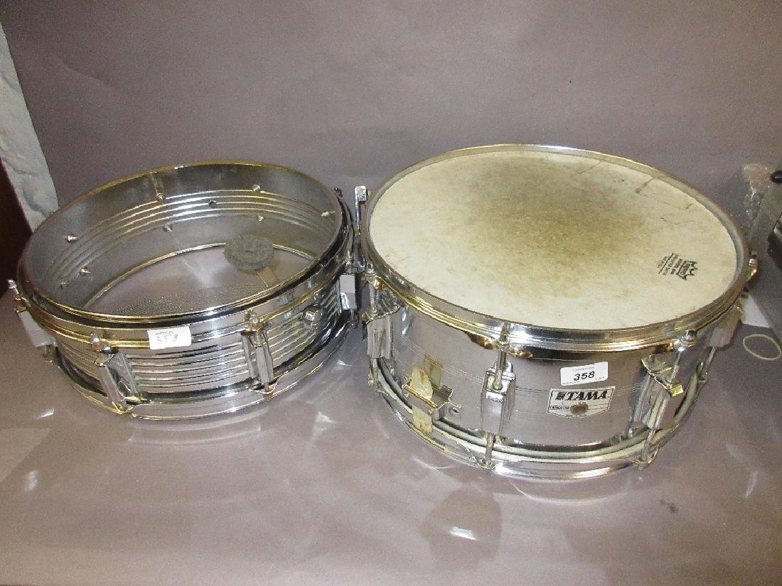 Tama snare drum, 14ins x 6ins, made in Japan and a