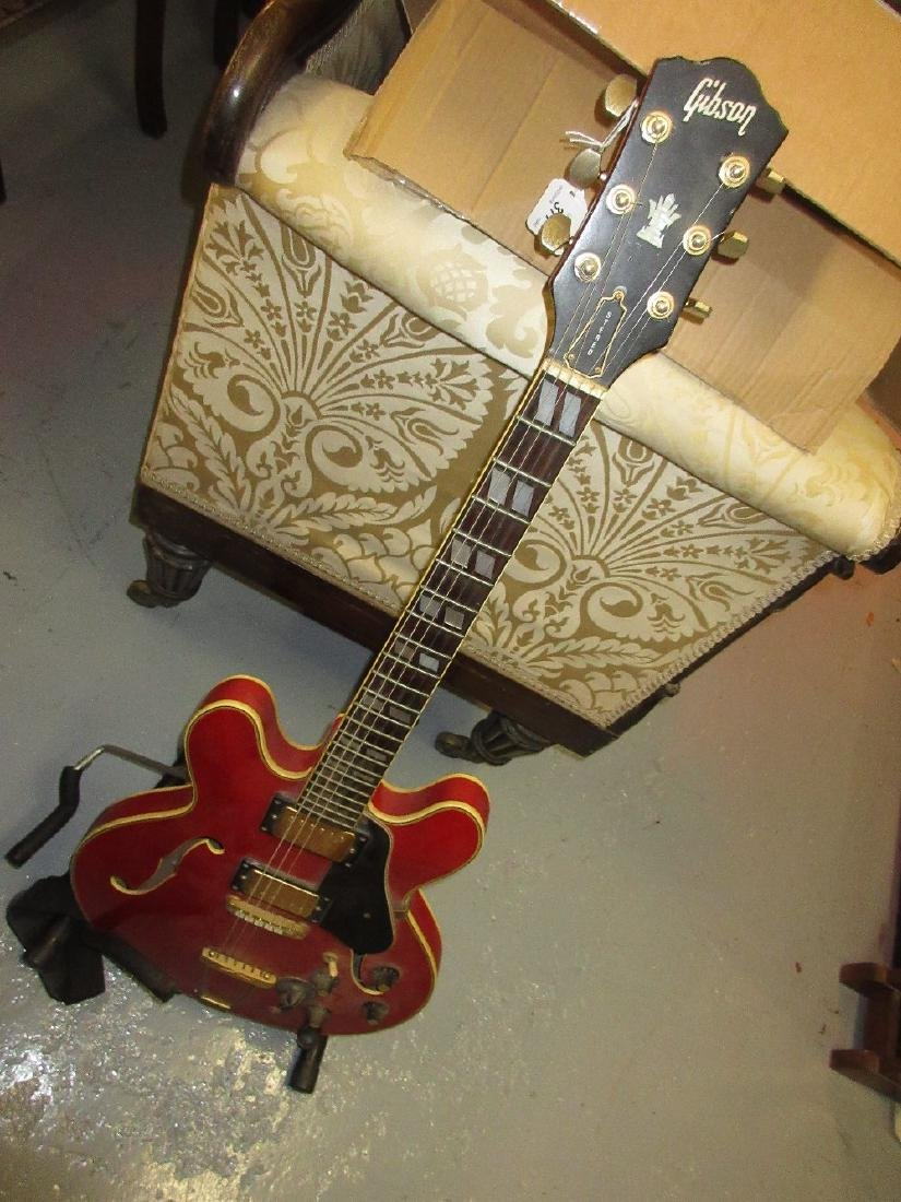 Gibson style E.S. 345 type electric guitar with bolt on