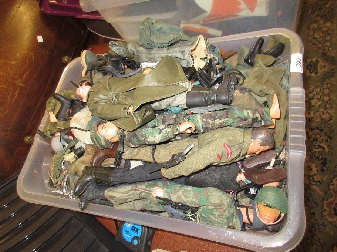 Collection of Action Man style figures, most in