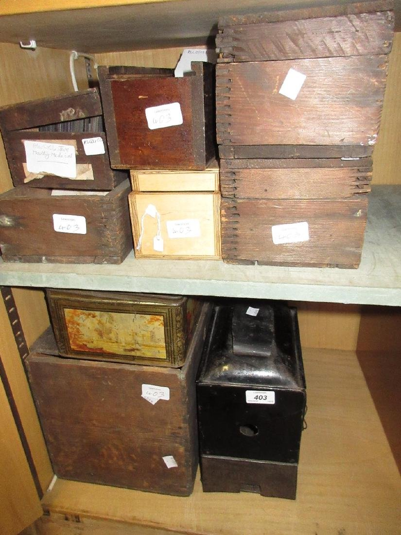 Large collection of glass magic lantern slides of