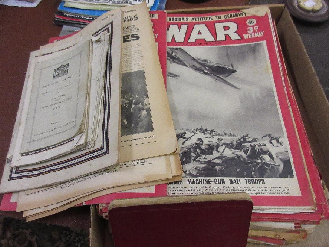 Quantity of ' The War ' pictorial magazines and various