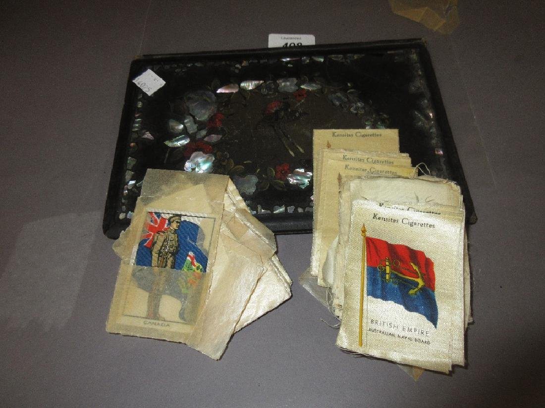 Small quantity of various silk cigarette cards and a